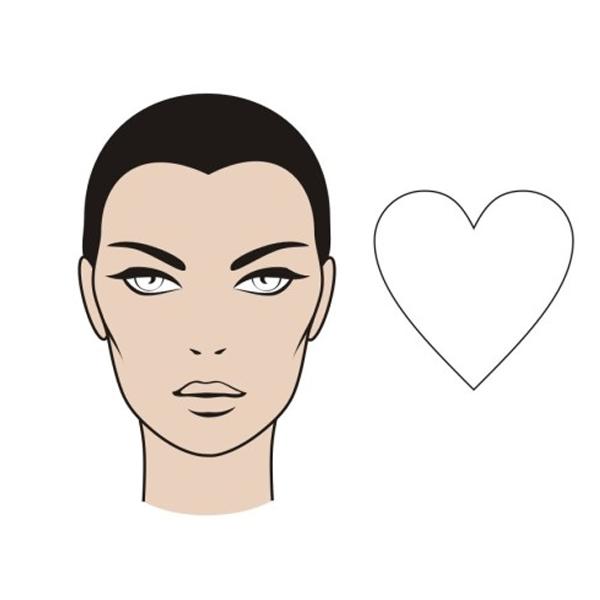 Сердцевидная форма лица