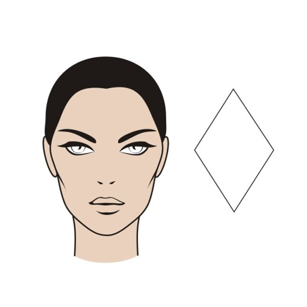 Ромбовидная форма лица